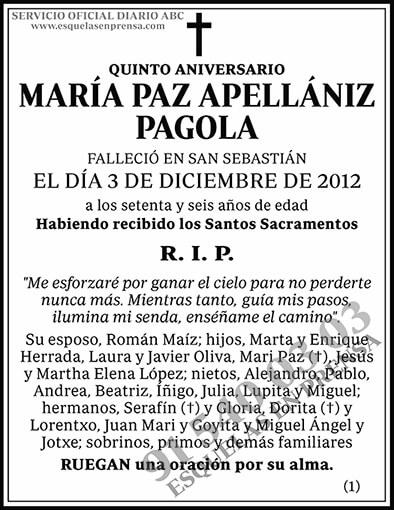María Paz Apellániz Pagola